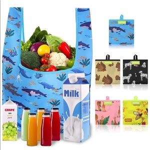 Reusable Shopping Bags for Groceries,  5 Pack